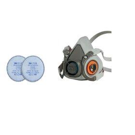 3M Μάσκα με Φίλτρα Προστασίας από Σωματίδια Ατμών και Ηλεκτροσυγκόλλησης Σειρά 6000  complete